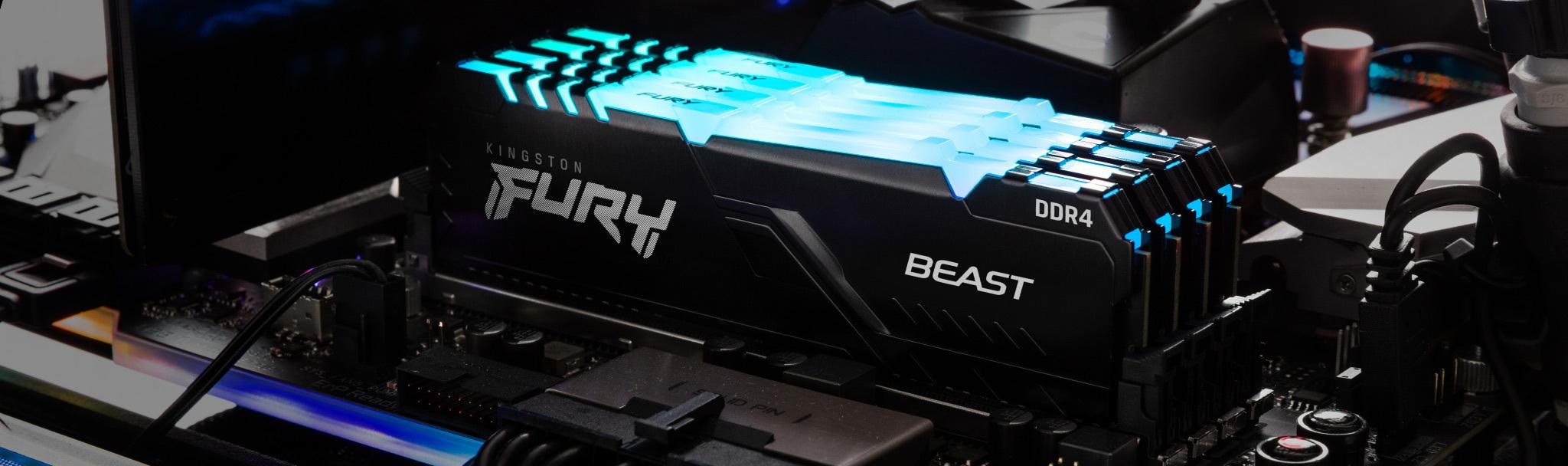 Оперативная память Kingston Fury Beast RGB DDR4-3200