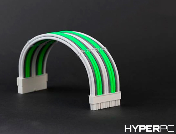 HYPERPC Custom Cable Kit (Green-White-Grey)