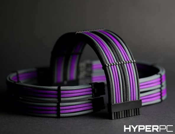 HYPERPC Custom Cable Kit (Purple-Black-Grey)