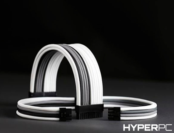 HYPERPC Custom Cable Kit (White-Grey-Black)