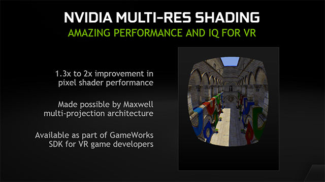 NVIDIA Multi-res shading